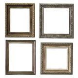 Collection of wooden frames Royalty Free Stock Image