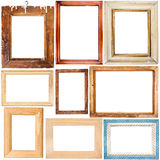 Collection of wooden frames Royalty Free Stock Photo