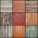 Collection of wooden planks Stock Image