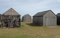 Collection of Wooden sheds, texture interest. Collection of Wooden sheds,Winterton on sea, texture interest Royalty Free Stock Image