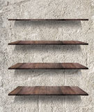 Collection of wooden shelves Royalty Free Stock Image
