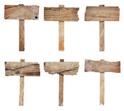 Collection of wooden sign and signboard Royalty Free Stock Photos