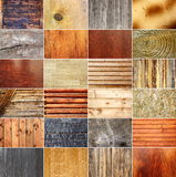 Collection of wooden textures Royalty Free Stock Images