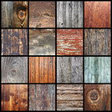 Collection of wooden textures for your design Stock Image