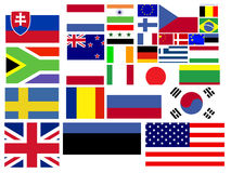 Collection of world flags Royalty Free Stock Image