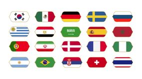 World Flags Collection Vector Illustration stock illustration
