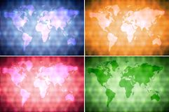 Collection world map background Royalty Free Stock Photos