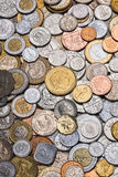 Collection of Worldwide Coins Royalty Free Stock Images