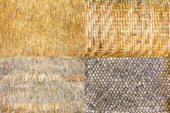 Collection of woven bamboo Stock Images