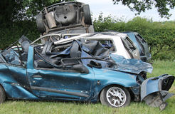 Collection of Wrecked Cars. Royalty Free Stock Photo