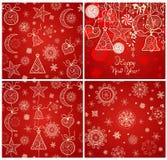 Collection of xmas magic red wallpaper Stock Photos