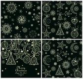 Collection of xmas magic wallpaper Royalty Free Stock Photos