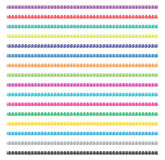 Collection of yarn strings, vector  Royalty Free Stock Images