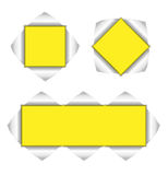 Collection of yellow background Stock Photos