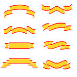 Collection of yellow banners Stock Image