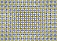 Collection of yellow and blue patterns tiles Royalty Free Stock Photos