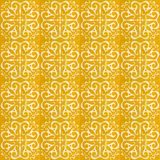Collection of yellow patterns tiles royalty free stock images