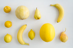 Collection of yellow summer fruits Stock Photography