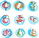 Collection of Zen images Royalty Free Stock Photography