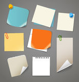 Collectionn of paper stickers. Template for a text Stock Photos