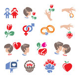 Collections of abstract family icons Stock Photos
