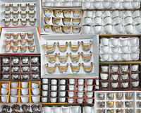 Collections of arabian cups Stock Images