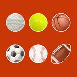 Collections of balls for play Stock Photos
