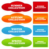 Collections banners Royalty Free Stock Image