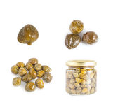 Collections of capers  isolated Royalty Free Stock Image
