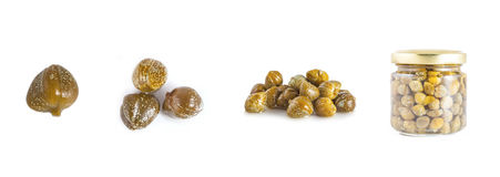 Collections of capers  isolated Royalty Free Stock Photography