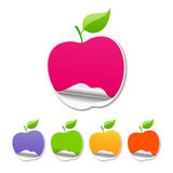Collections colorful sticker apple Royalty Free Stock Photos