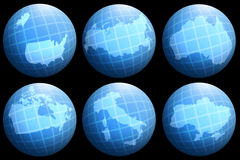 Collections countries on globe Stock Images