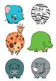 Collections d'animaux illustration stock