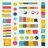 Collections de diagrammes plats de conception d'infographics. illustration libre de droits