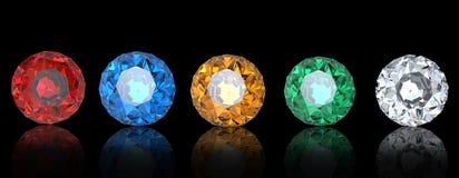 Collections de gemmes Photographie stock libre de droits