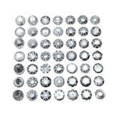 Collections de gemmes de bijou Image stock