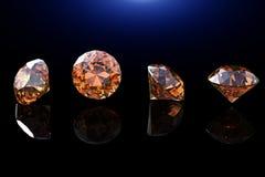 Collections de gemmes de bijou sur le noir Photographie stock libre de droits