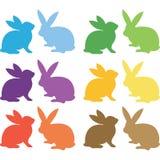 Collections de Pâques Bunny Silhouette illustration de vecteur