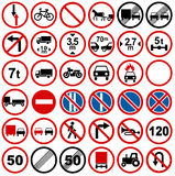 Collections de signalisation de route Photo libre de droits