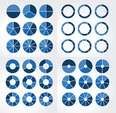 Collections of different circular charts Stock Photo