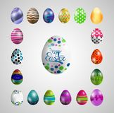 Collections of Easter eggs. Illustration of Collections of Easter eggs stock illustration