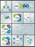Collections of element for infographic chart template geometric figure. For web Stock Photography