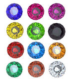 Collections of gems Stock Photography