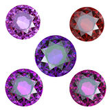 Collections of gems Royalty Free Stock Photo