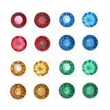 Collections of gems Stock Image