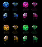 Collections of gems Stock Photo