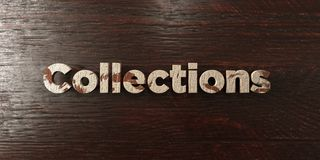 Collections - grungy wooden headline on Maple  - 3D rendered royalty free stock image Stock Image
