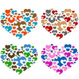 Collections of hearts Stock Image