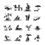 Collections holiday icons. Authors illustration in vector Royalty Free Stock Image