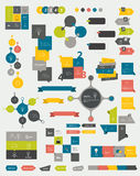 Collections of info graphics flat design diagrams. Royalty Free Stock Image